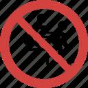 no shove, shove blocked, shove forbid, shove illegal, shove not allowed, shove prohibition, stop shove icon