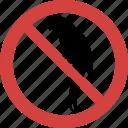 no parrot, parrot blocked, parrot forbid, parrot illegal, parrot not allowed, parrot prohibition, stop parrot icon