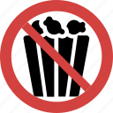 ban snacks, snacks forbid, snacks illegal, snacks not allowed, snacks prohibition, stop snacks icon