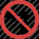 advertisement blocked, advertisement forbid, advertisement illegal, advertisement not allowed, advertisement prohibition, no advertisement, stop advertisement icon
