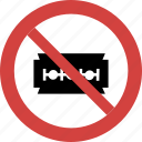 ban blade, forbid, not allowed, prohibition, stop blade icon