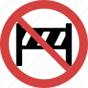 ban barrier, barrier forbid, barrier illegal, barrier not allowed, barrier prohibition, stop barrier icon