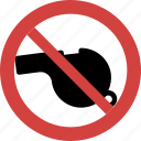 ban, block, illegal, not allowed, prohibition, stop, stop whistle icon