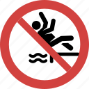 back dive, back jump dive, ban, illegal, prohibition, sign, stop back jump dive icon