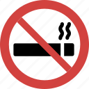 cigarette, forbid, illegal, not allowed, prohibition, sign, smoking icon