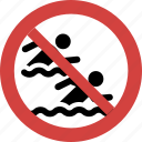 stop swimming race, swimming race not allowed, swimming race prohibition, ban swimming race, swimming race forbid, swimming race illegal icon