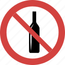 ban wine, stop wine, wine forbid, wine illegal, wine not allowed, wine prohibition icon