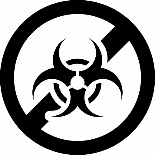 biohazard, biological, forbidden, hazard, hazardous, prohibited icon