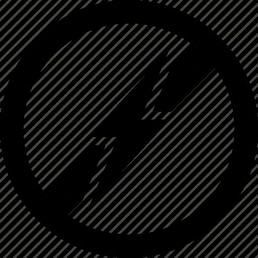 Bolt, electricity, forbidden, lightning, prohibited icon - Download on Iconfinder