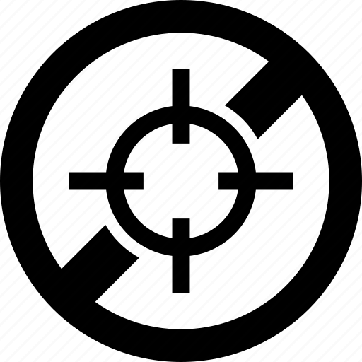 forbidden, hunt, open, prohibited, season, target icon