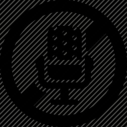 forbidden, mic, microphone, prohibited, recording, voice icon