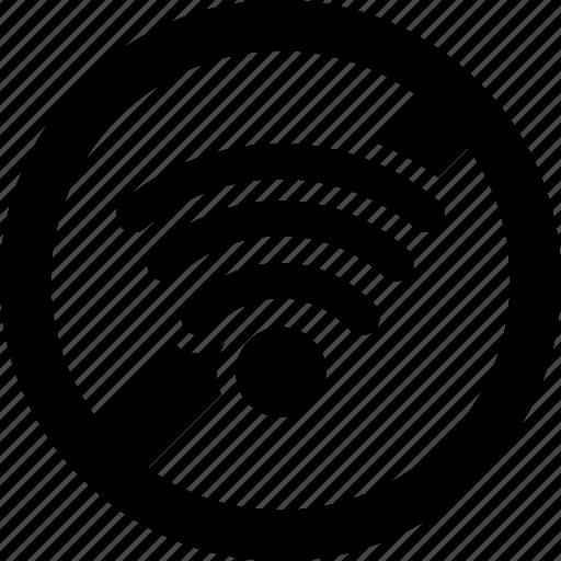 forbidden, prohibited, signal, wifi icon