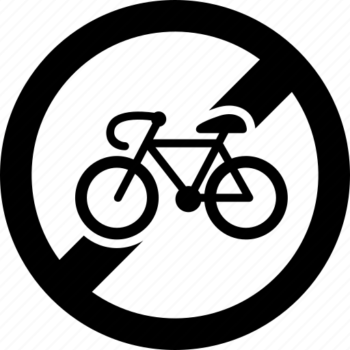 bicycle, bike, entry, forbidden, no, prohibited, ride icon