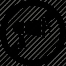 forbidden, megaphone, mute, sound, volume icon