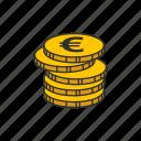 coins, currecny, euro, euro coins icon