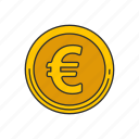 coin, currency, euro coin, money icon