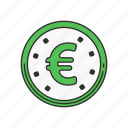 coin, currency, euro, money