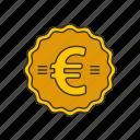 coin, euro, euro coin, money icon