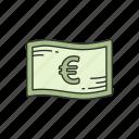 cash, euro, european money, money icon