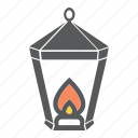 camping, gas lamp, lamp, light icon