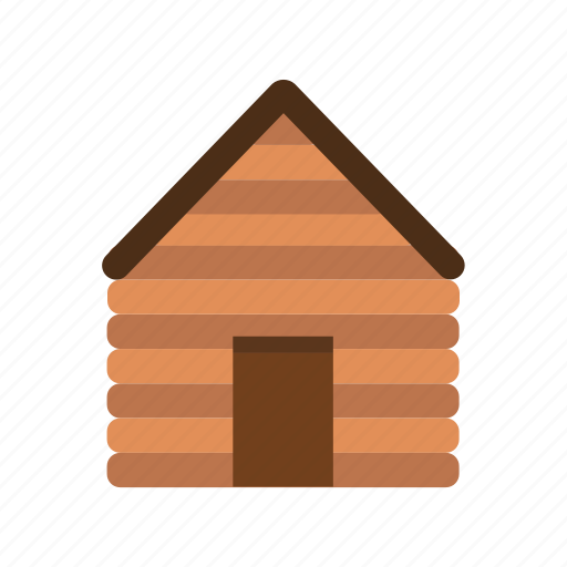 cottage, house, hut, shed, wooden, woods icon