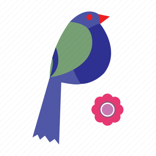 bird, flower, nature, spring icon