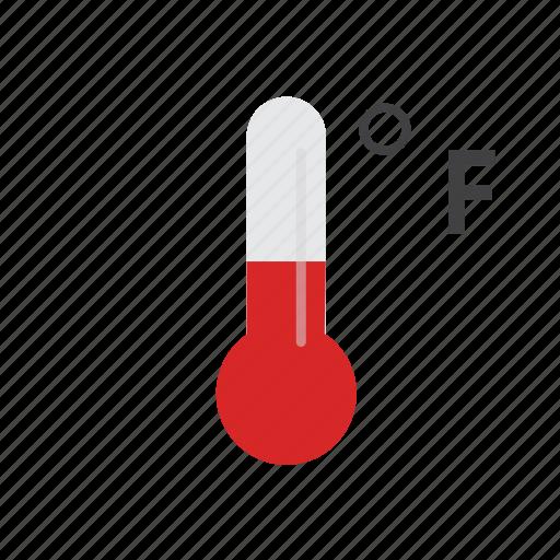 cold, fahrenheit, heat, hot, temperature, thermometer, warm icon