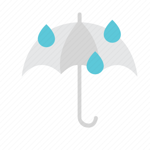 drop, forecast, rain, rainy, umbrella, weather icon