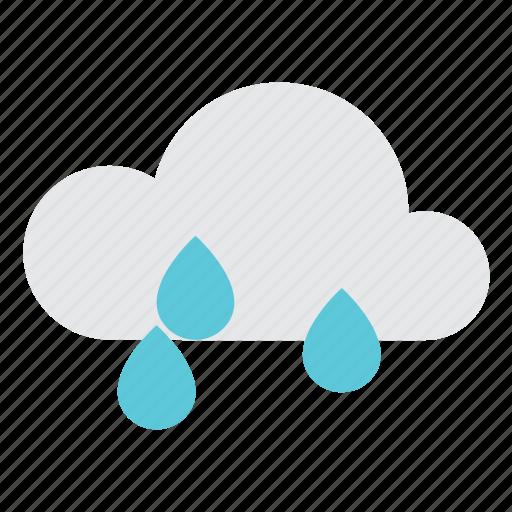 cloud, cloudy, drop, forecast, rain, rainy, weather icon