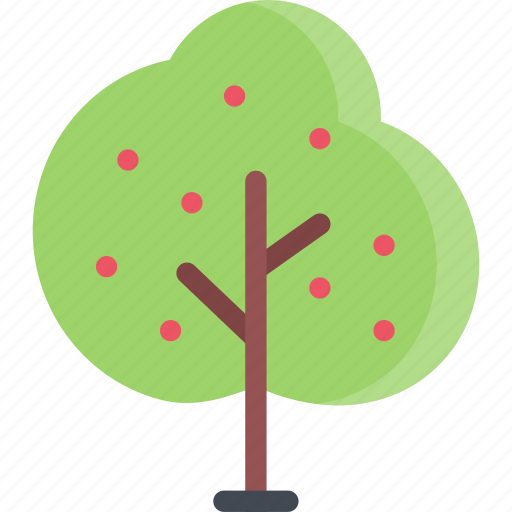 cherry, forest, forester, nature, tree icon