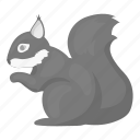 animal, eco, forest, nature, rodent, squirrel icon