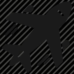 plane, transportation, travel icon