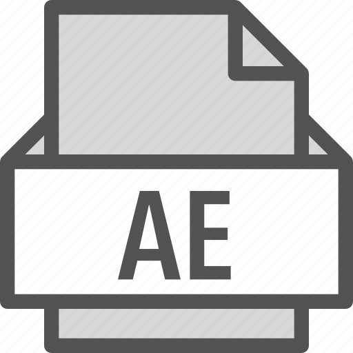 ae, extension, file, folder, tag icon