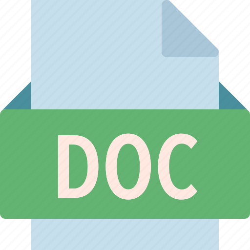 doc, extension, file, folder, tag icon