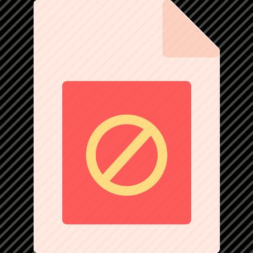 accessdeny, extension, file, folder, tag icon