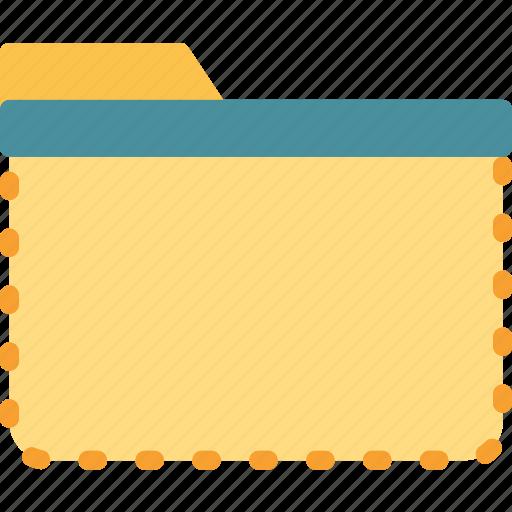 extension, file, folder, foldercut, tag icon