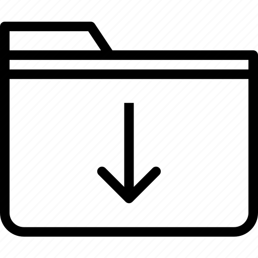 extension, file, folder, folderdown, tag icon