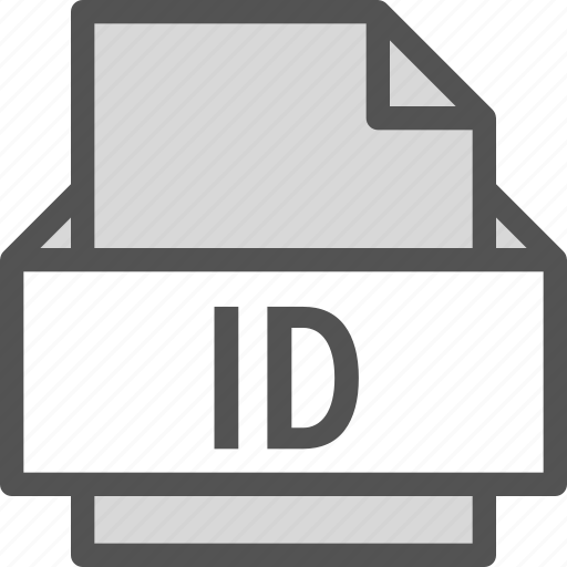 extension, file, folder, id, tag icon