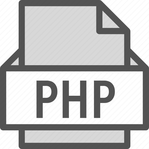 extension, file, folder, php, tag icon