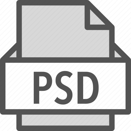extension, file, folder, psd, tag icon