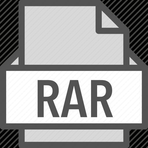 extension, file, folder, rar, tag icon