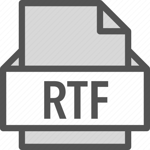 extension, file, folder, rtf, tag icon