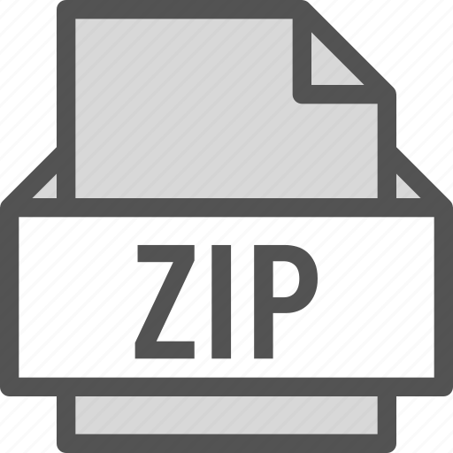 extension, file, folder, tag, zip icon