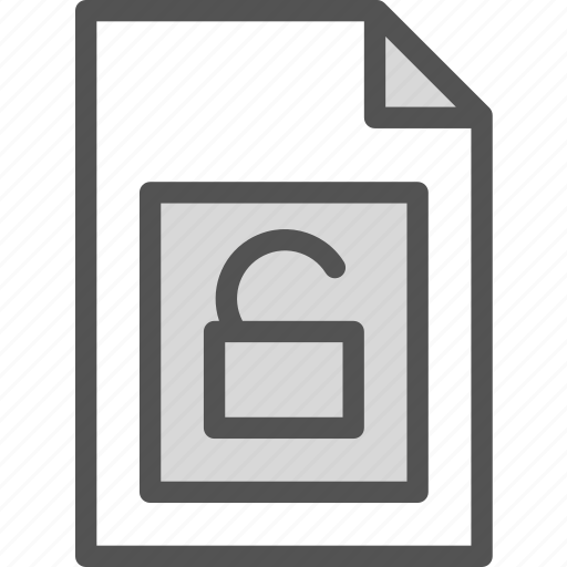 extension, file, folder, tag, unprotected icon