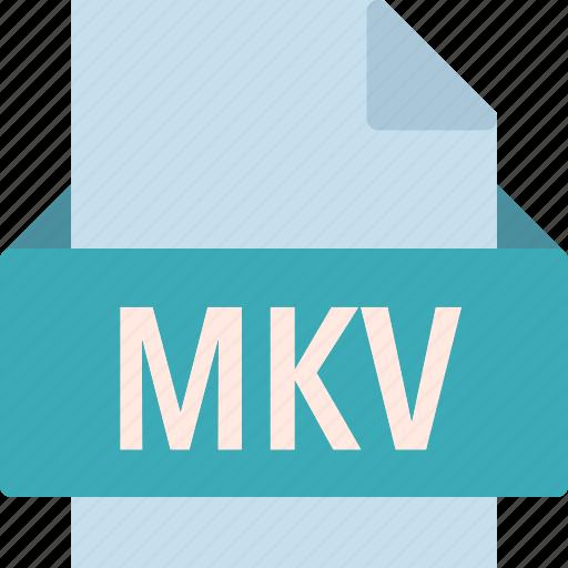 extension, file, folder, mkv, tag icon