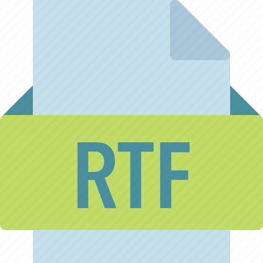 extension, file, folder, rtf, tag icon