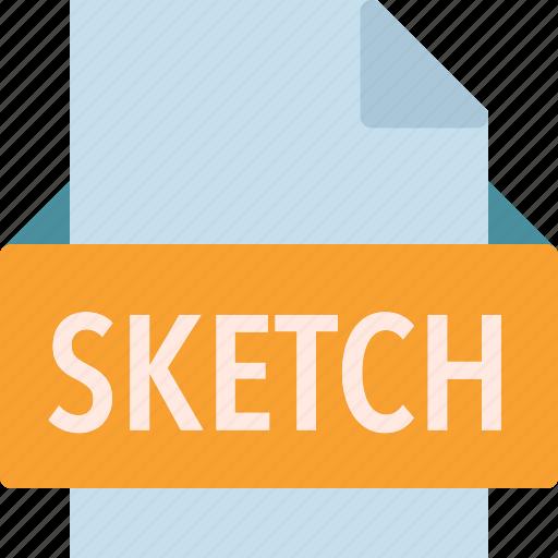 extension, file, folder, sketch, tag icon