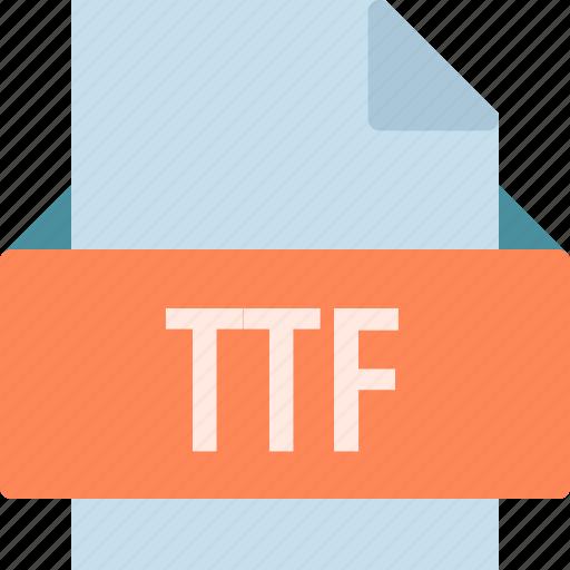 extension, file, folder, tag, ttf icon