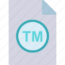 extension, file, folder, tag, trademark icon