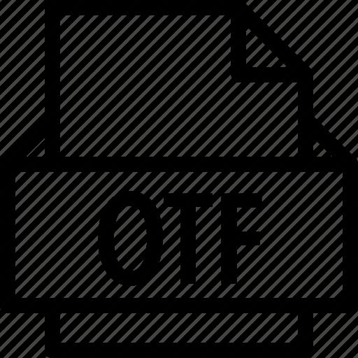 extension, file, folder, otf, tag icon